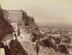 [General view of the] Fort [ramparts] Gwalior